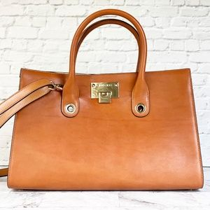 NWOT Jimmy Choo Riley Leather Satchel
